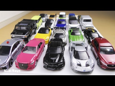 Tomica cars go up the slope トミカが坂を駆け上がる