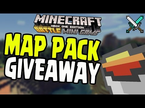 "Minecraft PS4/Xbox - ""BATTLE MODE"" MAP PACK 1 GIVEAWAY! (Title Update TU36)"