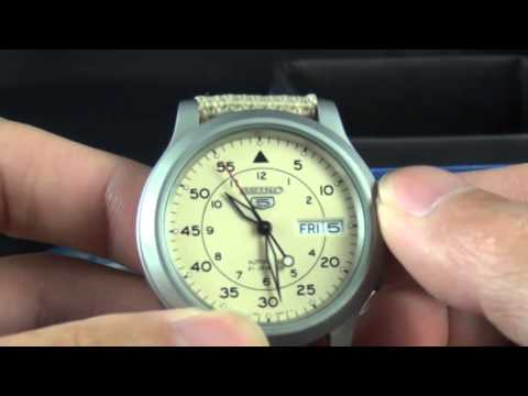 review seiko snkk military beige