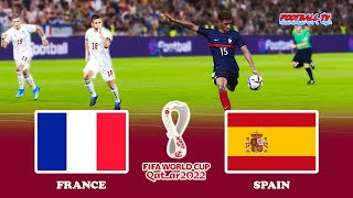 PES 2021 FRANCE vs SPAIN FIFA World Cup 2022 Full Match eFoorball Gameplay