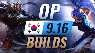 11 NEW Korean Builds to Copy in Patch 9.16 - League of Legends Season 9