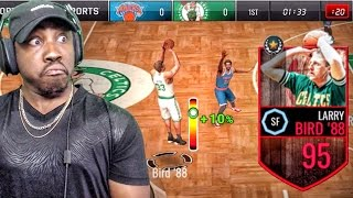 95 larry bird bombing 3 pointers nba live mobile 16 gameplay ep 81