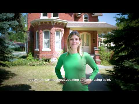 Canadian Tire & The Leslie Style - Episode 3 - Painting a Mantle