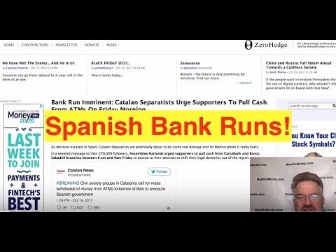 Calls For BANK RUN in Spain! Mass Withdrawal of Cash From ATM's Will Collapse the Banks!
