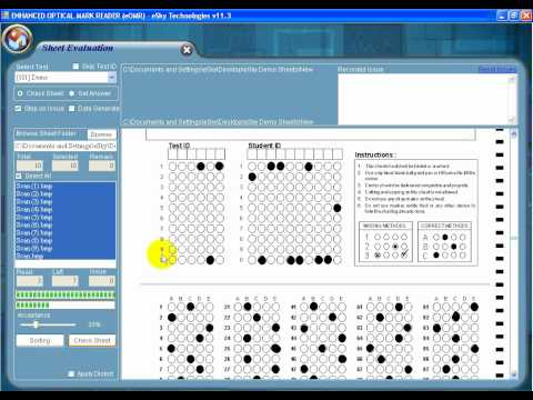 eOMR Software ( OMR Answer Sheet Checker ) Full Tutorial - YouTube