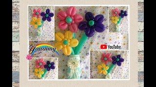 FLORES CON LOS PETALOS HACIA ENFRENTE.- HOW TO MAKE  FLOWERS .
