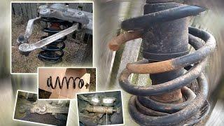 Замена передних пружин, амортизаторов Ауди А6 С5 (Audi A4, Passat B5, Skoda Superb)