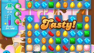 Candy Crush Soda Saga Level 74 - No Boosters