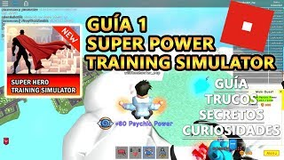 super Power Training Simulator, tricks and secrets + how to play, Roblox Spanish Tutorial Guide 1