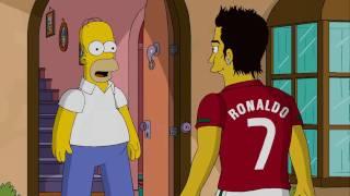 nike write the future homer simpson vs cristiano ronaldo hd 1080p