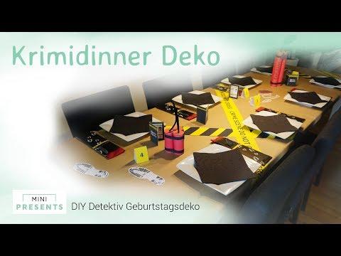 DIY Escape Room, Krimidinner, Detektiv, Agenten Party Deko Selber Basteln | Mini-presents.com