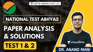 National Test Abhyas | Paper Analysis and Solutions | Test 1 & 2 | NEET Biology | Dr. Anand Mani