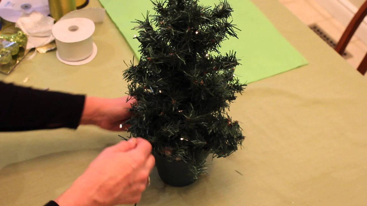 how to decorate a mini christmas tree with lights youtube