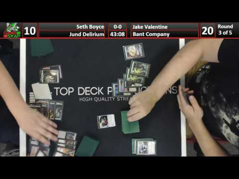 FNM Standard 08/19/16: Seth Boyce (Jund Delirium) vs Jake Valentine (Bant Company)