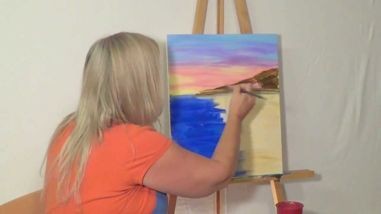free painting lesson how to guided acrylic painting for beginners