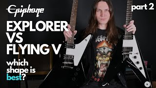 Epiphone Explorer vs Flying V 2020 Part 2 - Sound Comparison