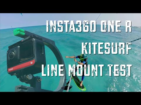 Insta360 ONE R   Kitesurf Line-Mount Test (360 Mod)