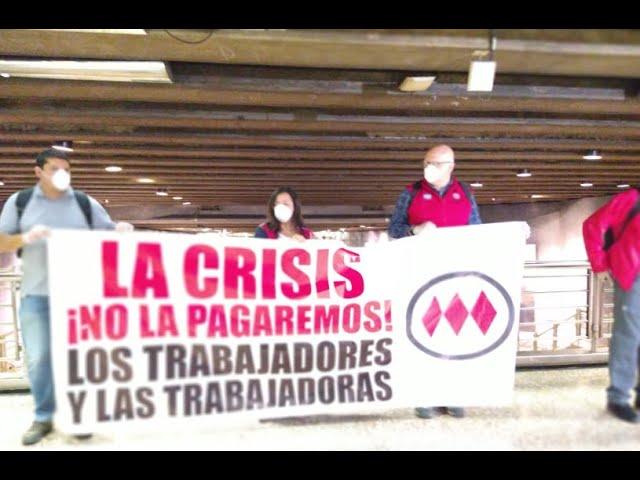 Sindicatos del Metro protestan por despidos en la empresa