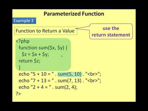 +2 CA Chapter 05 PHP Function and Array