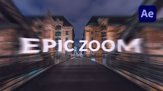 How to create an Epic Zoom in After Effects - TUTORIAL