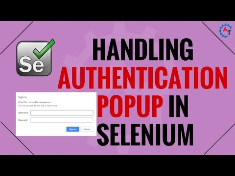 How to Handle Authentication Popup in Selenium Webdriver