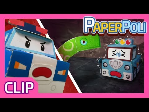 Help me! Let's save Spooky from the snakes tunnel! | Paper POLI [PETOZ] | Robocar Poli Special