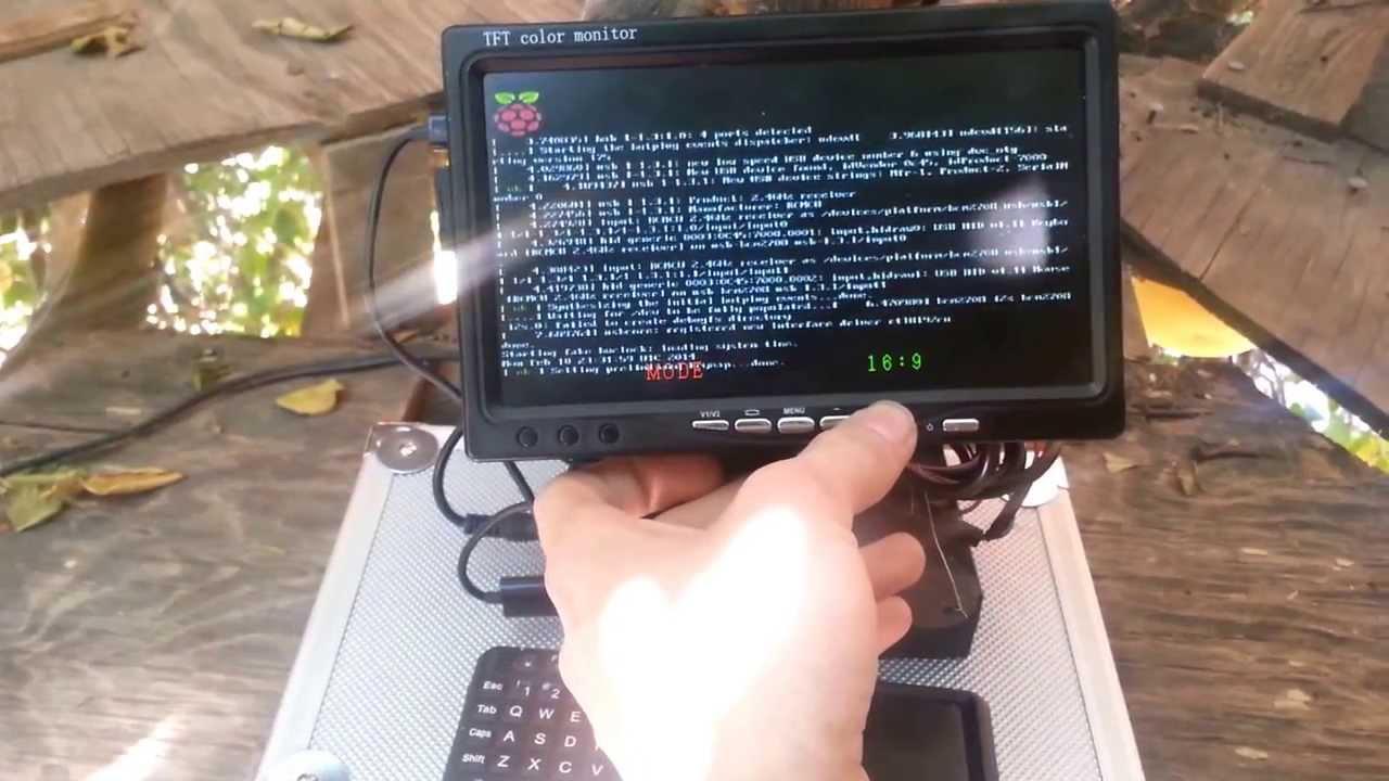 Raspberry Pi 12vdc 7 Quot Rca Monitor Build Youtube