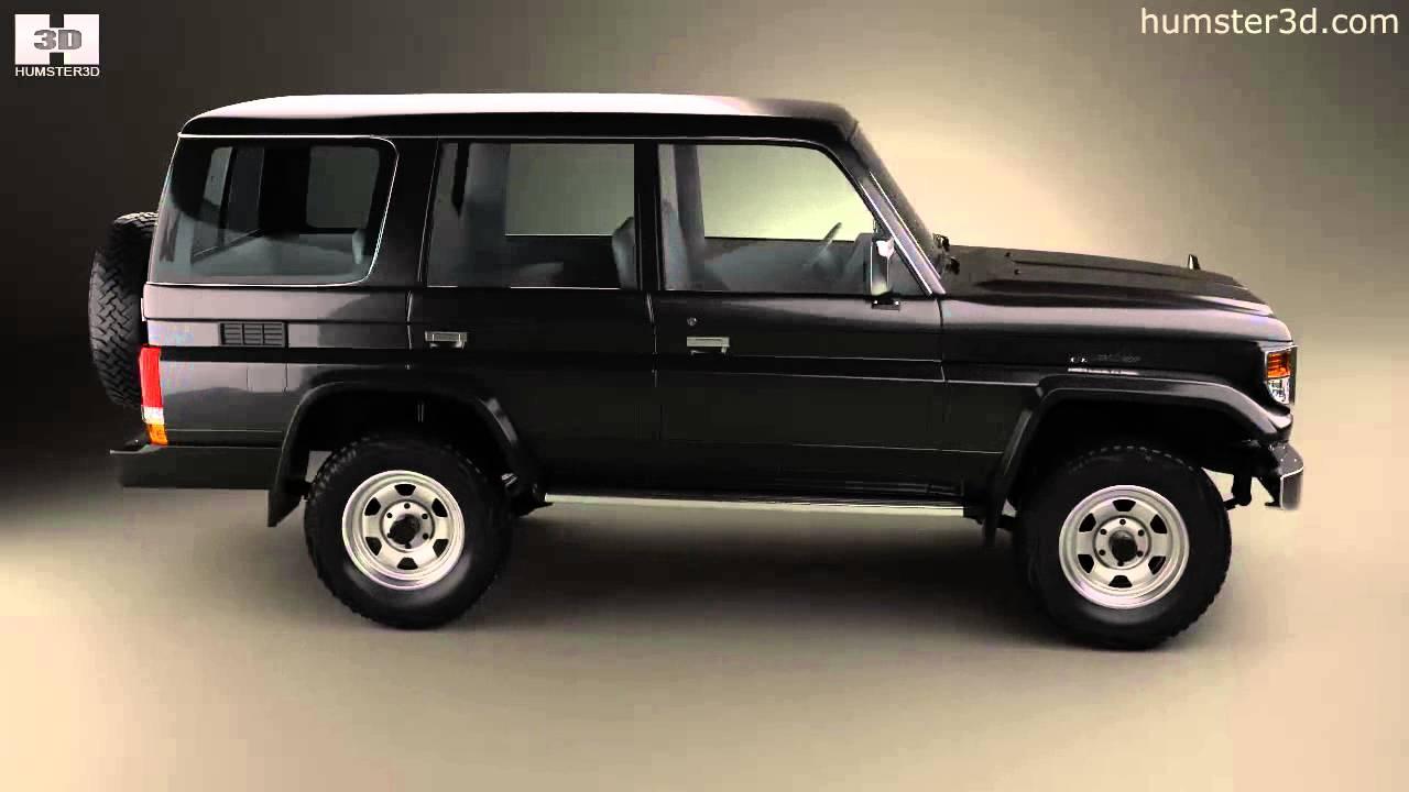 Toyota Land Cruiser J70 5 Door 1990 By 3d Model Store Humster3d