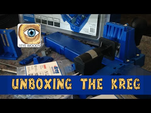 Unboxing The Kreg Jig K5 Pocket Hole System Super Kit