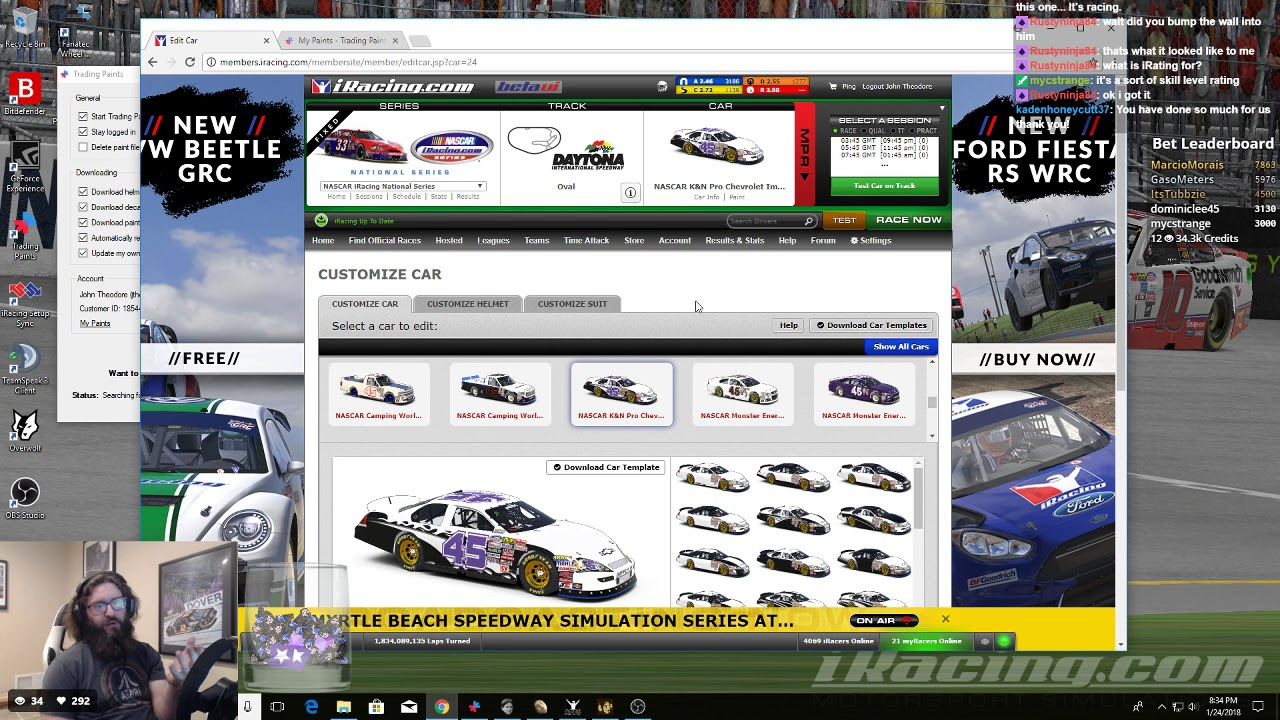 My Very Bad Iracing Trading Paints And Helmet Suit Tutorial Youtube