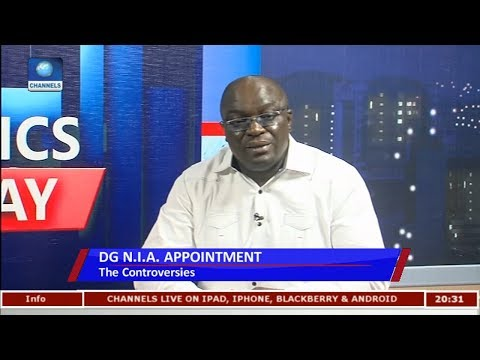 Download Youtube: NIA Appointment: I Believe The NIA DG Is Competent - Uche Diala |Politics Today|