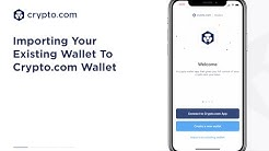 How To Import Your Existing Wallet To Your Crypto.com Wallet