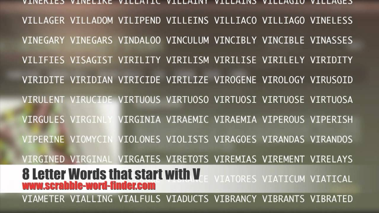 8 letter words that start with V   YouTube