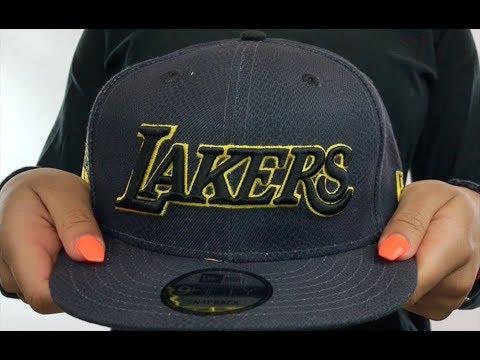 a7b7fecf Lakers 'CITY-SERIES SNAPBACK' Charcoal Hat by New Era - YouTube