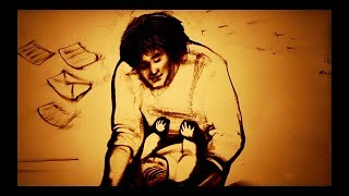 "Песочный фильм - памяти Виктора Цоя ""Стук"" (2017, Ксения Симонова) - Sand tribute to Victor Tsoy"