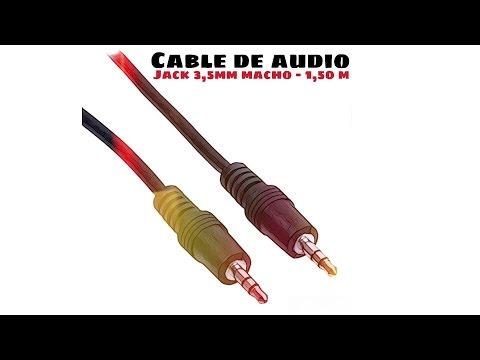 Video de Cable de audio estereo jack 3.5 macho 1.5 M Negro