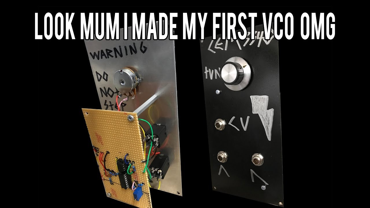 Synth Voltage Controlled Oscillator 1v/oct tracked DIY how to