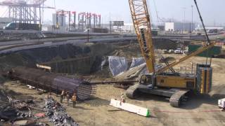 Time-lapse video showcasing pile cap and column construction on the...