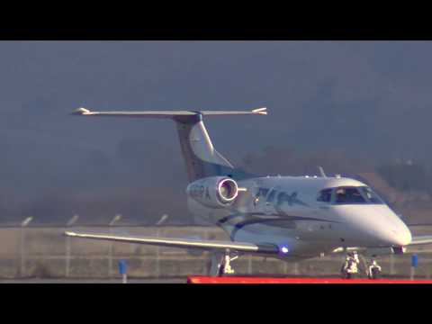 N161PA 2010 EMBRAER EMB-500 Phenom Landing Hollister KCVH