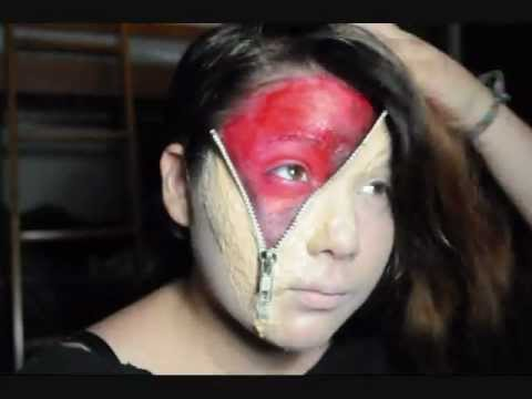 Opened Zipper Face Makeup - YouTube