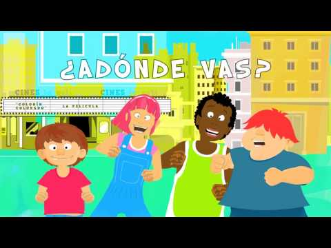 ¿Adónde vas? wh-questions in Spanish. Song to learn questions in Spanish for kids