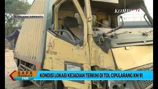Kondisi Lokasi Kecelakaan Maut Tol Cipularang Km 91, Arus Lalu Lintas Normal
