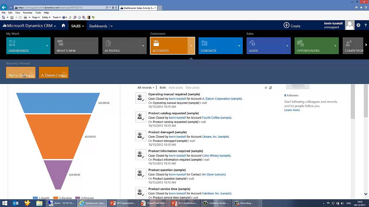 Microsoft Dynamics Crm 2013 Application And User Interface New