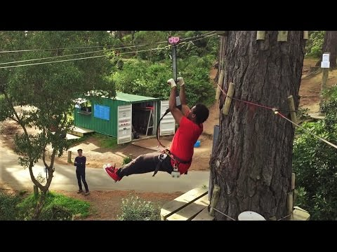 Adrenalin Forest - Wellington - Course 3a | High Ropes & Obstacle Course | Flying Foxes | NZ