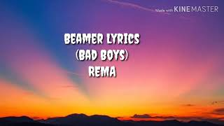 Rema x Rvssian - Beamer (Lyrics video)
