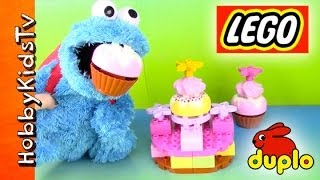 Lego Cake, Cupcakes With Cookie Monster Eating [duplo] [double Layer Cake] (6785)