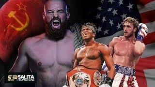 Russian Fighting Boss vs KSI and Logan Paul !!!