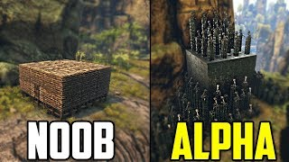 Ark - How to UPGRADE any base (Noob to Alpha)