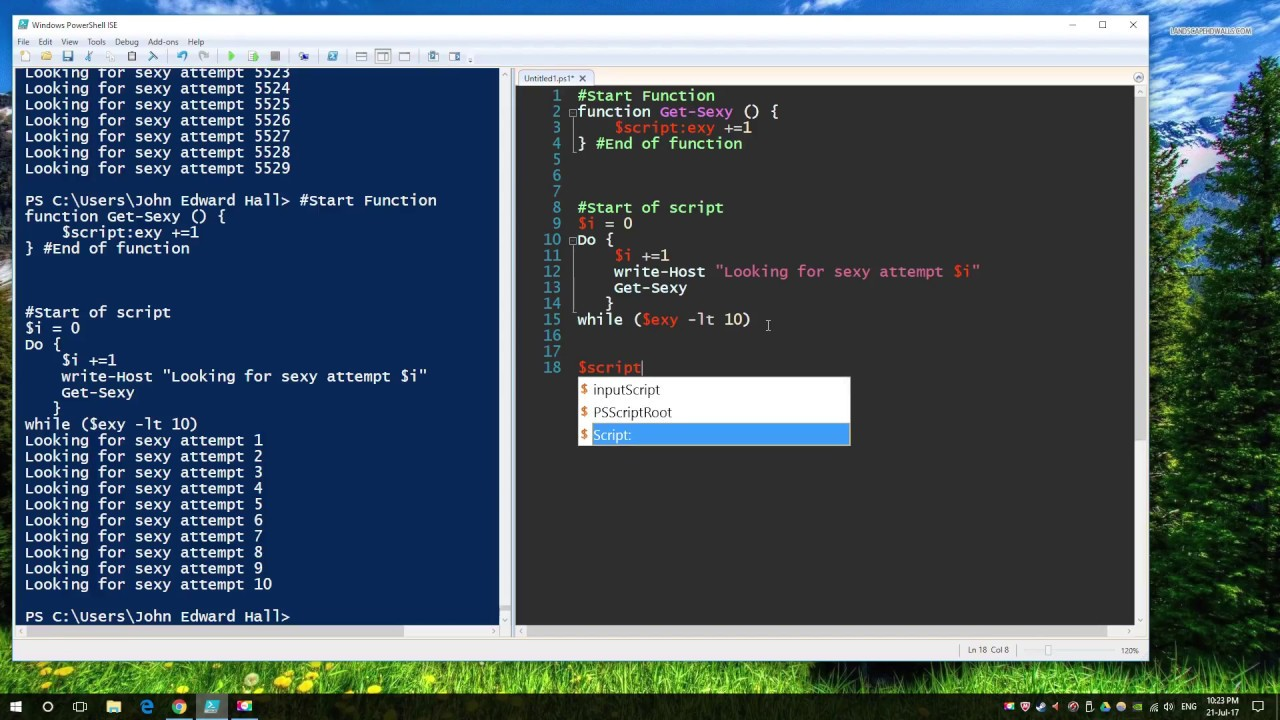 Powershell Functions Passing Parameters