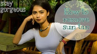 How to remove sun tan easily||homeremedy for old tan||for both men women||
